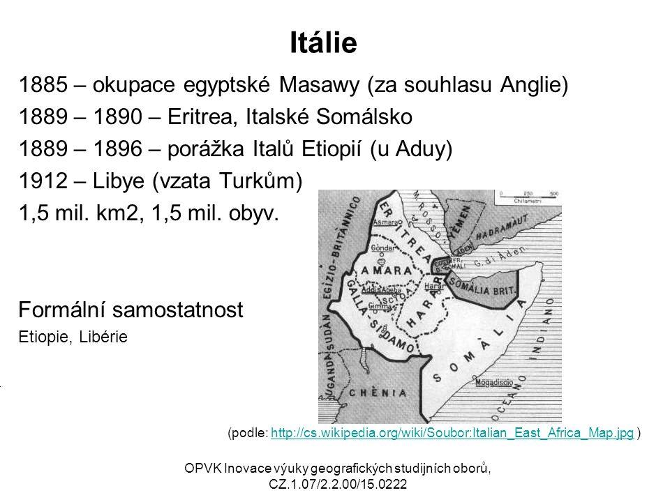 Itálie 1885 – okupace egyptské Masawy (za souhlasu Anglie)