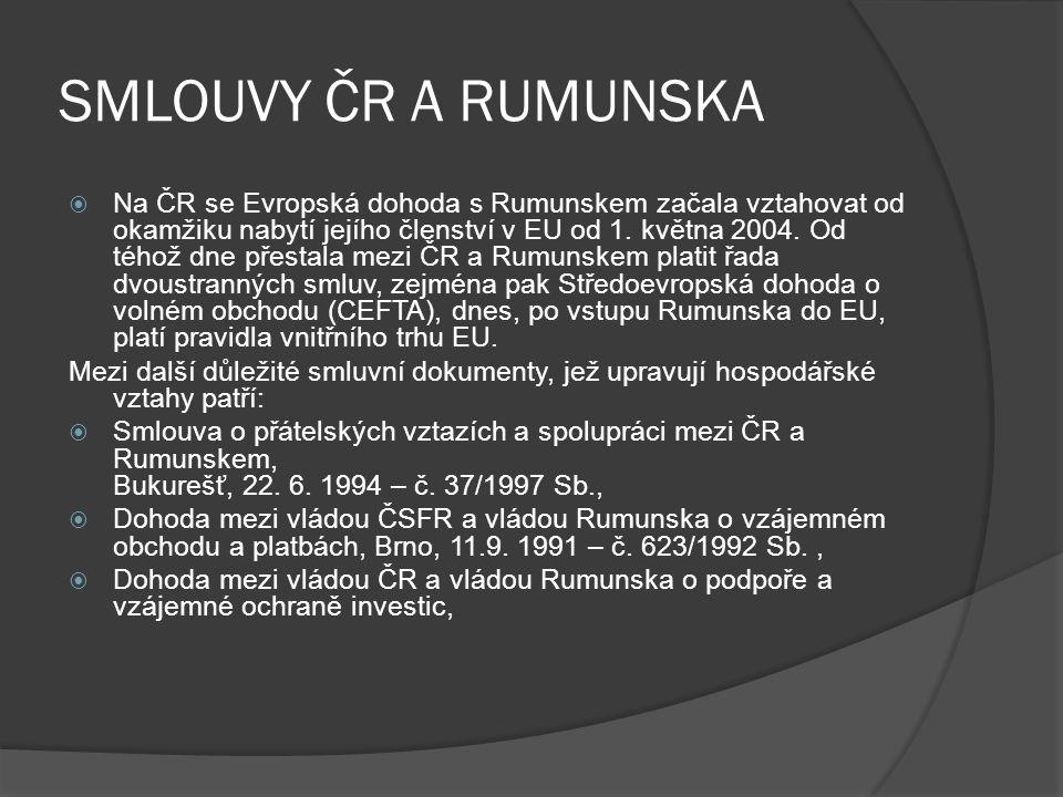 SMLOUVY ČR A RUMUNSKA