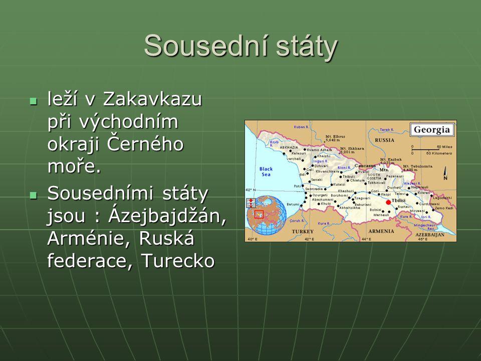 Sousední státy leží v Zakavkazu při východním okraji Černého moře.