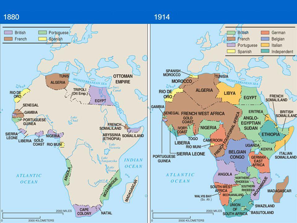 1880 1914 1914: Pouze Etiopie a Libérie nezávislé