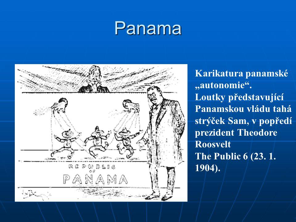 """Panama Karikatura panamské """"autonomie ."""