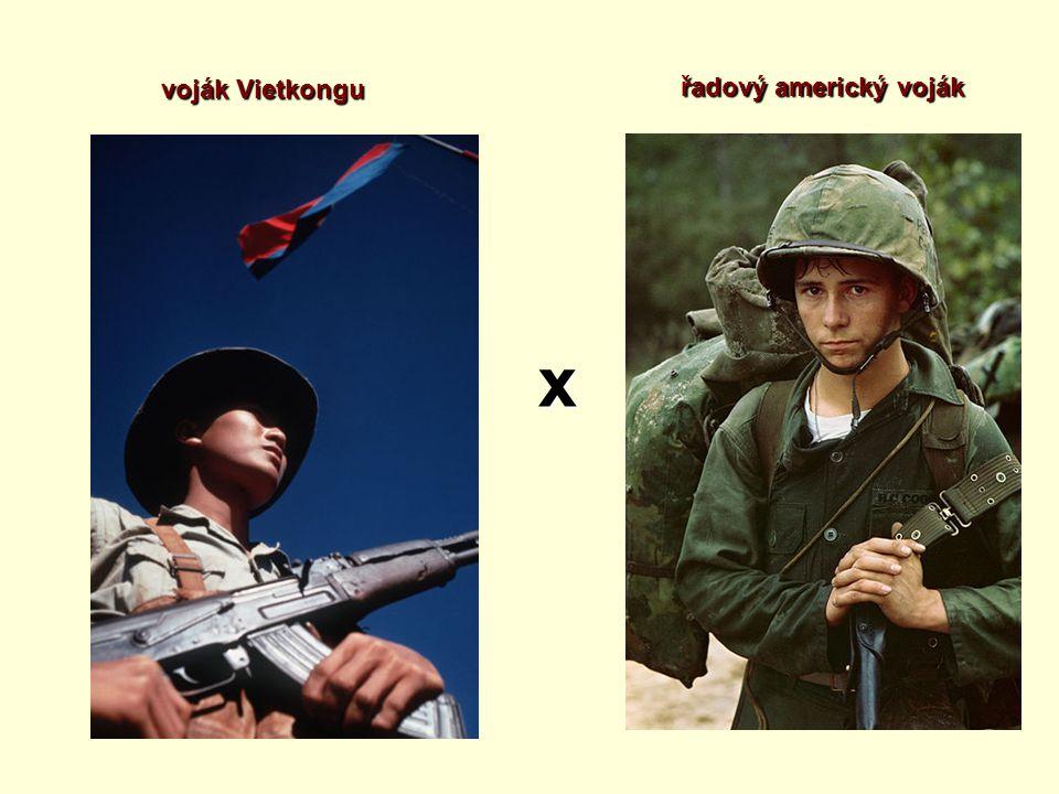 voják Vietkongu řadový americký voják x