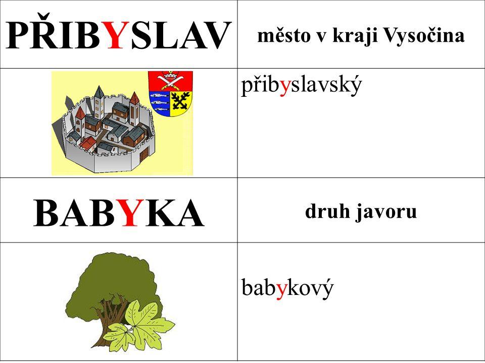 PŘIBYSLAV BABYKA přibyslavský babykový město v kraji Vysočina