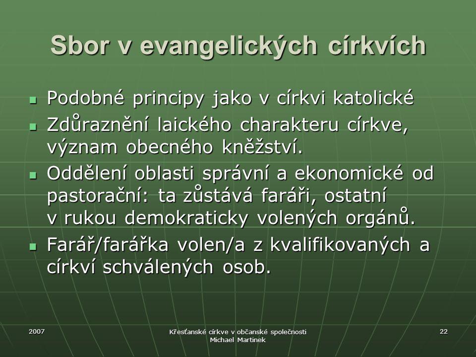 Sbor v evangelických církvích