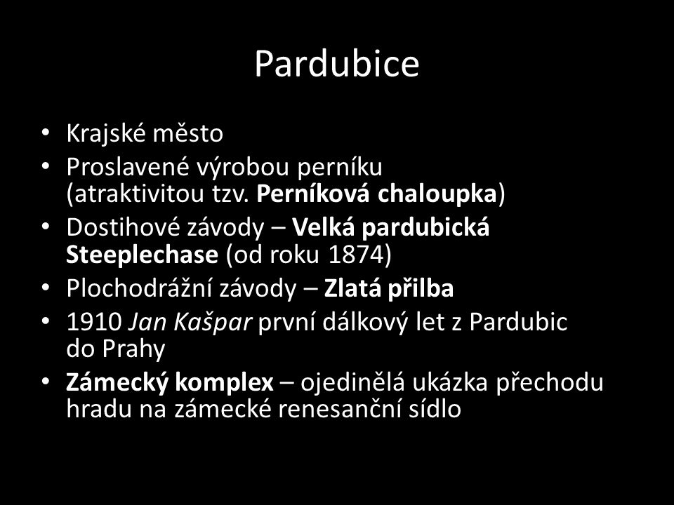 Pardubice Krajské město