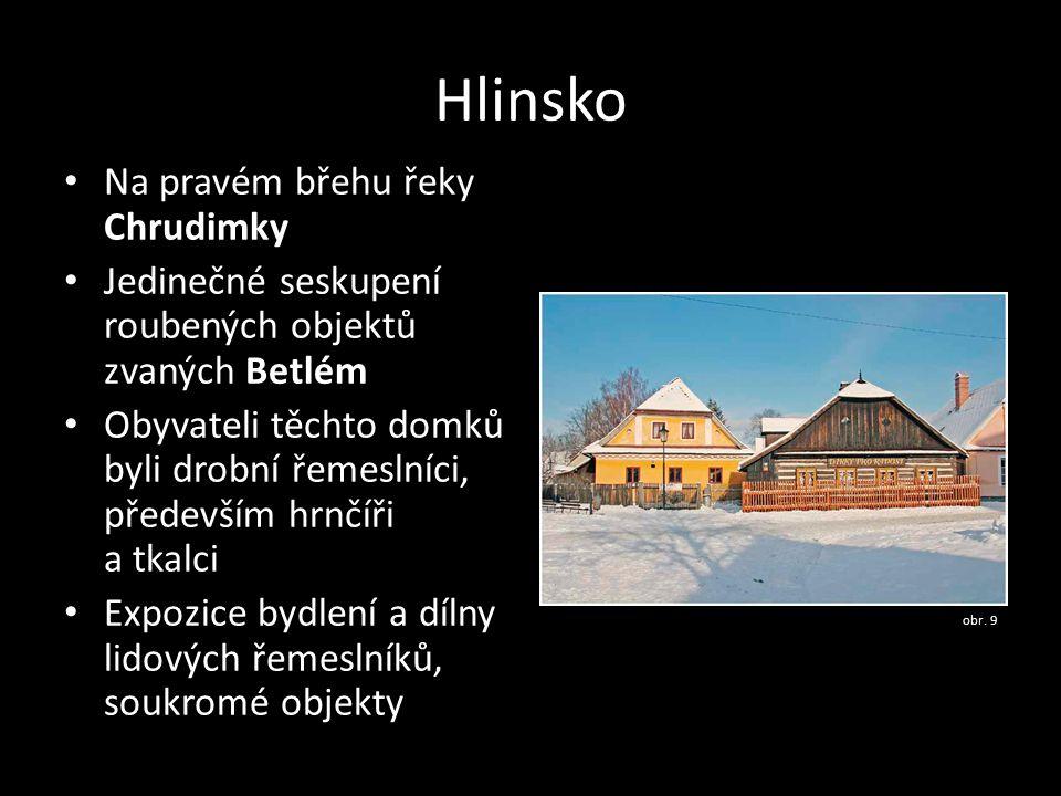 Hlinsko Na pravém břehu řeky Chrudimky
