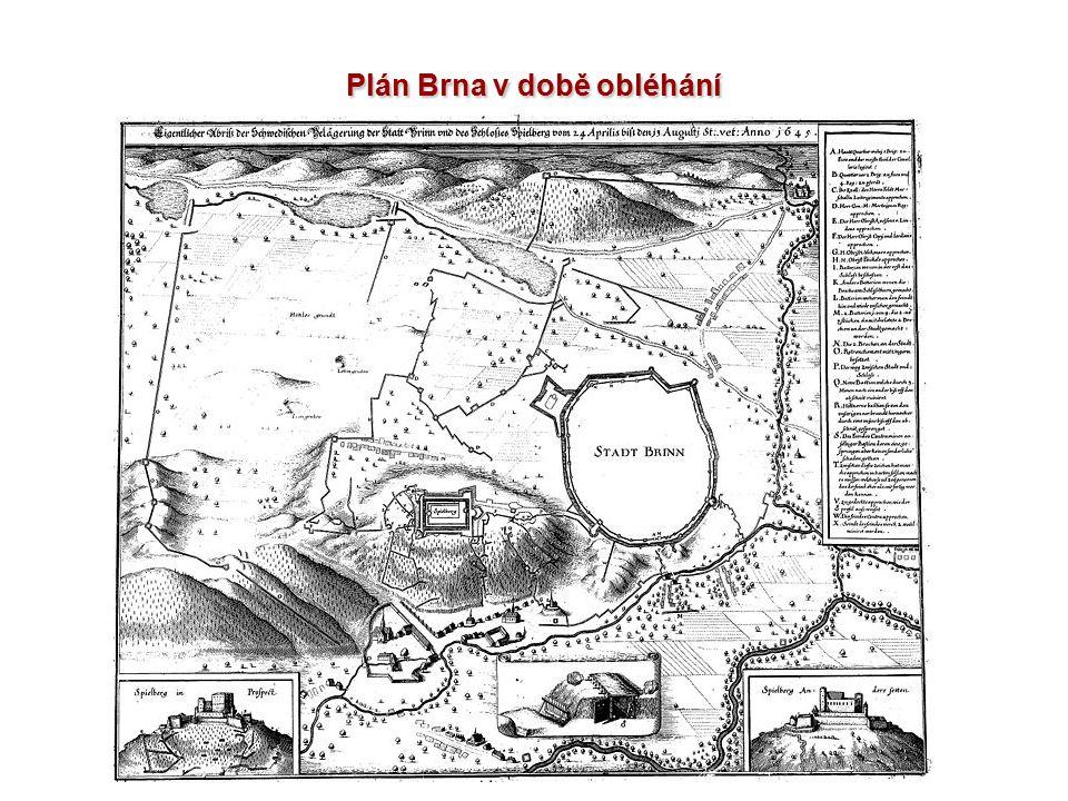 Plán Brna v době obléhání