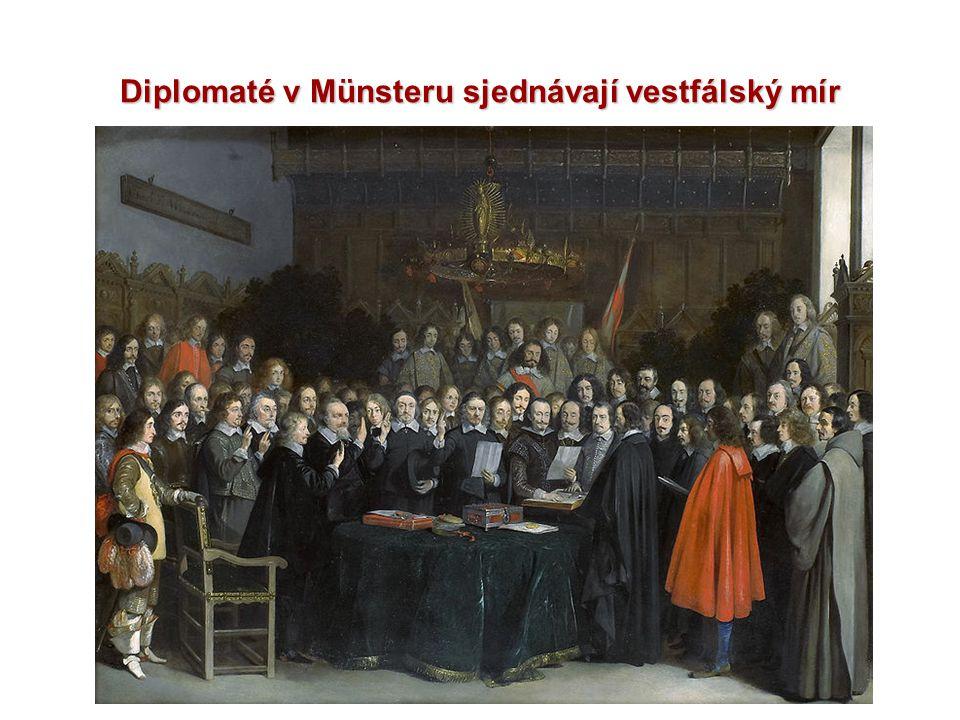 Diplomaté v Münsteru sjednávají vestfálský mír