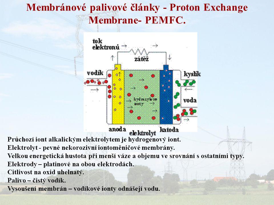 Membránové palivové články - Proton Exchange Membrane- PEMFC.