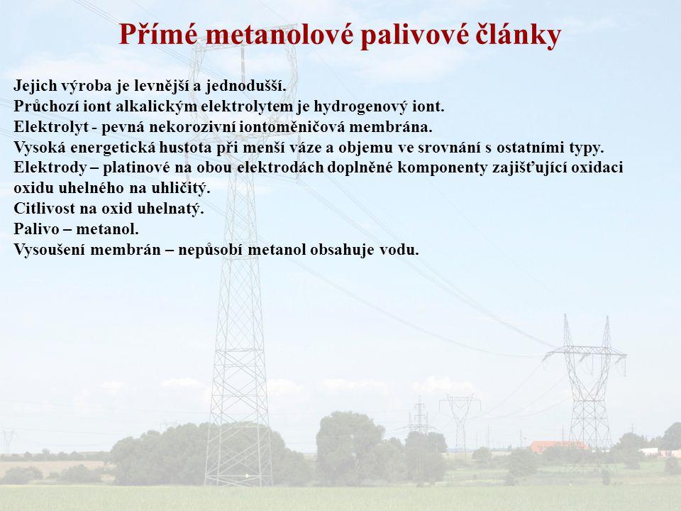 Přímé metanolové palivové články