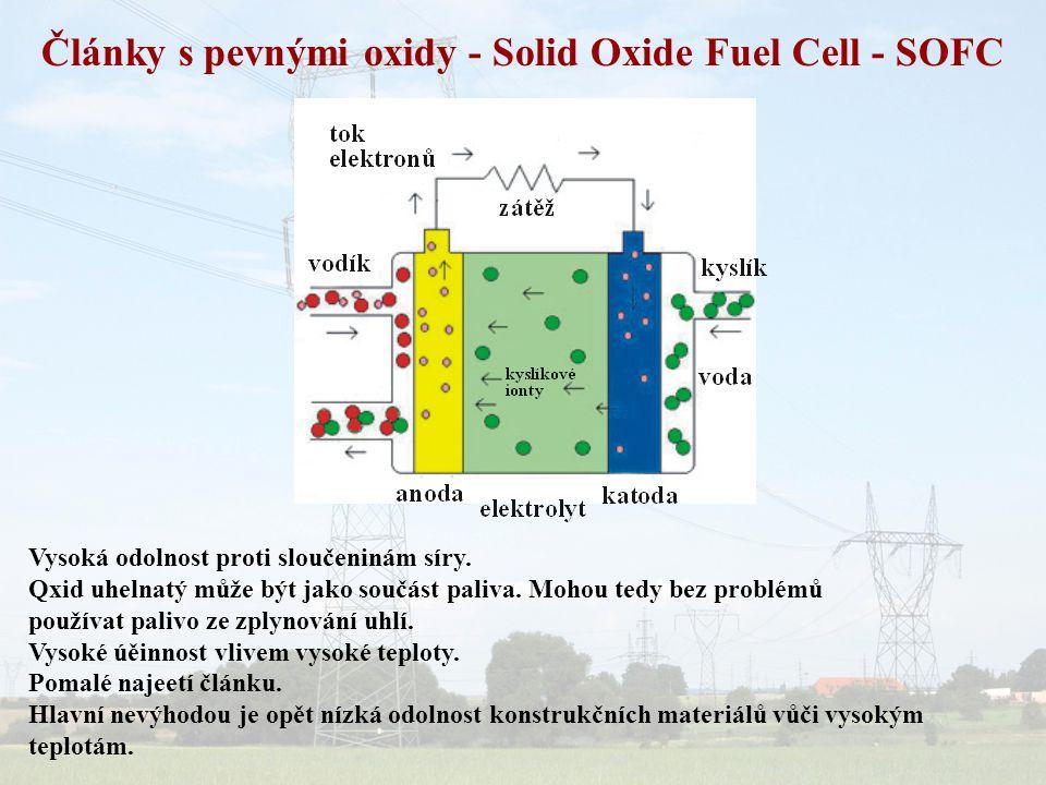 Články s pevnými oxidy - Solid Oxide Fuel Cell - SOFC