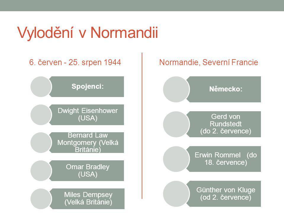 Vylodění v Normandii 6. červen - 25. srpen 1944