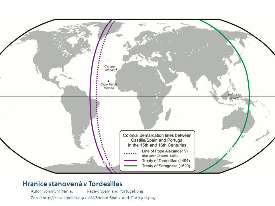 Hranice stanovená v Tordesillas