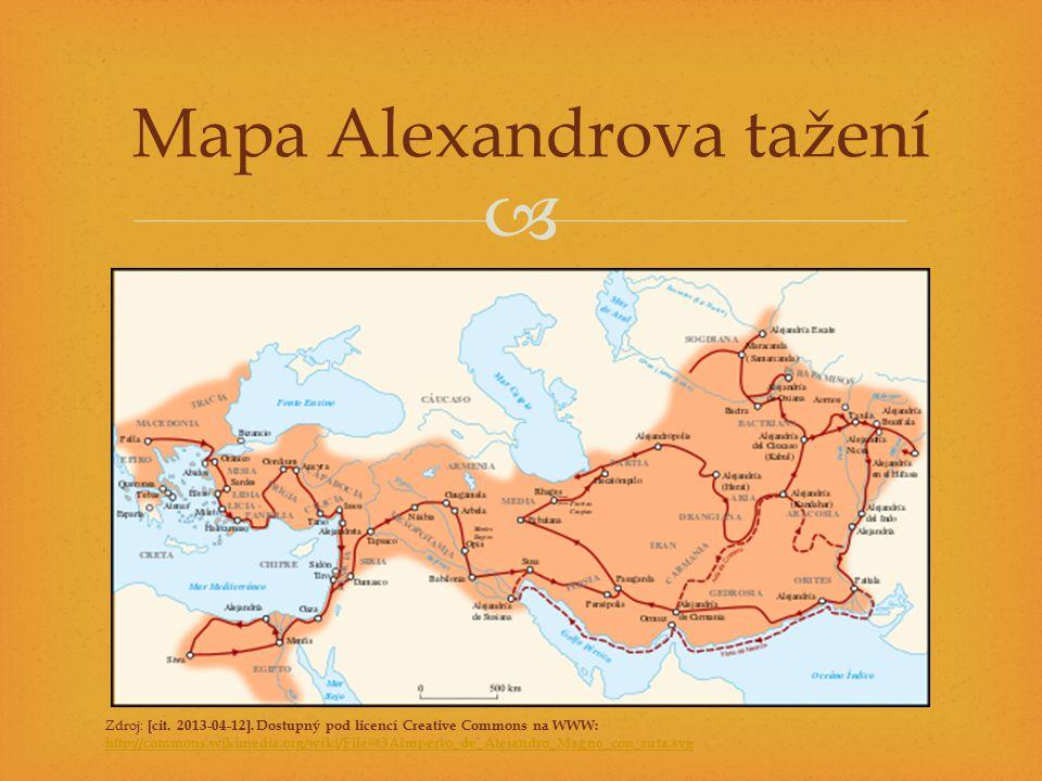 Mapa Alexandrova tažení