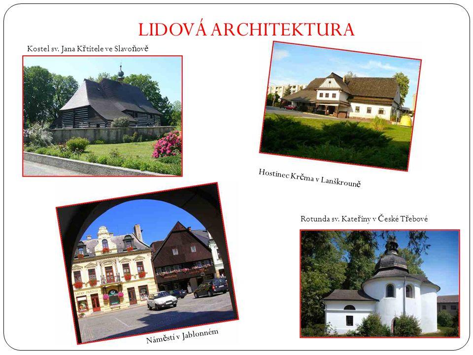LIDOVÁ ARCHITEKTURA Kostel sv. Jana Křtitele ve Slavoňově