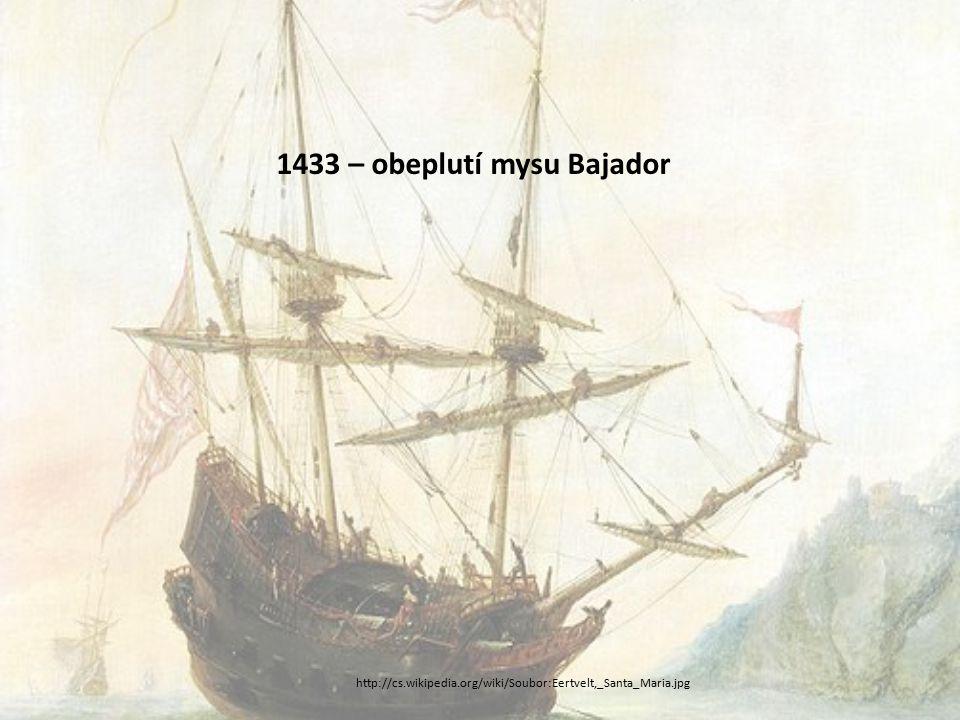 1433 – obeplutí mysu Bajador