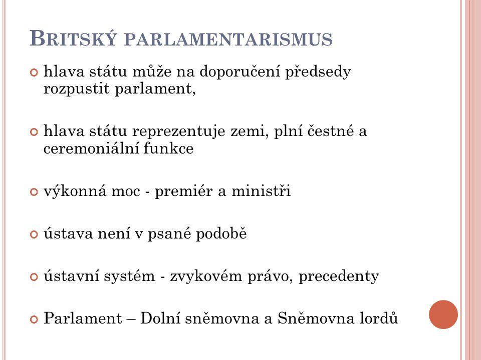 Britský parlamentarismus