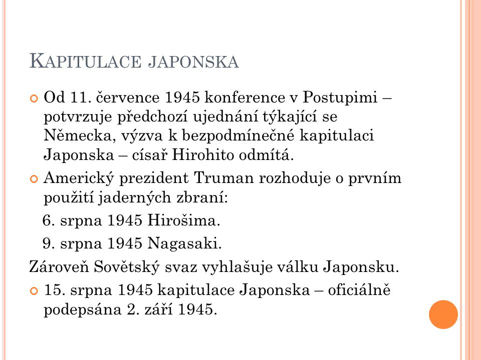 Kapitulace japonska