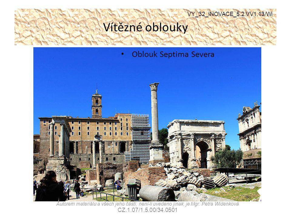 Vítězné oblouky Oblouk Septima Severa VY_32_INOVACE_5.2.VV1.13/Wi