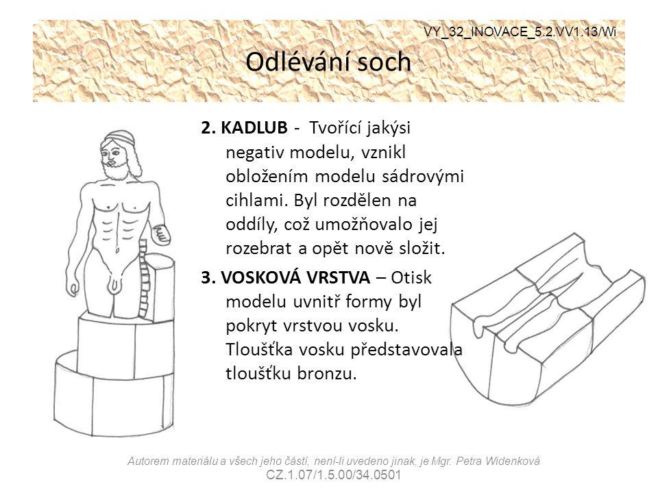 Odlévání soch VY_32_INOVACE_5.2.VV1.13/Wi.