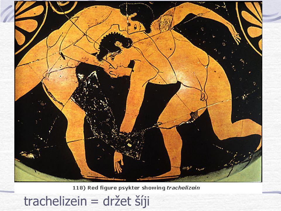 trachelizein = držet šíji