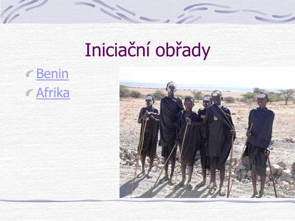 Iniciační obřady Benin Afrika