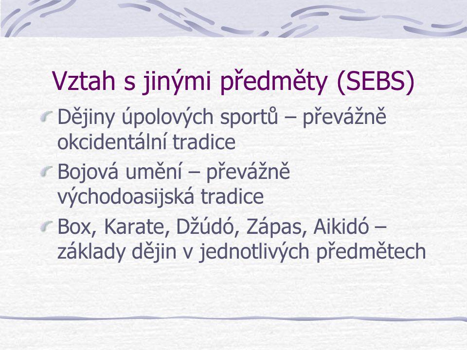 Vztah s jinými předměty (SEBS)