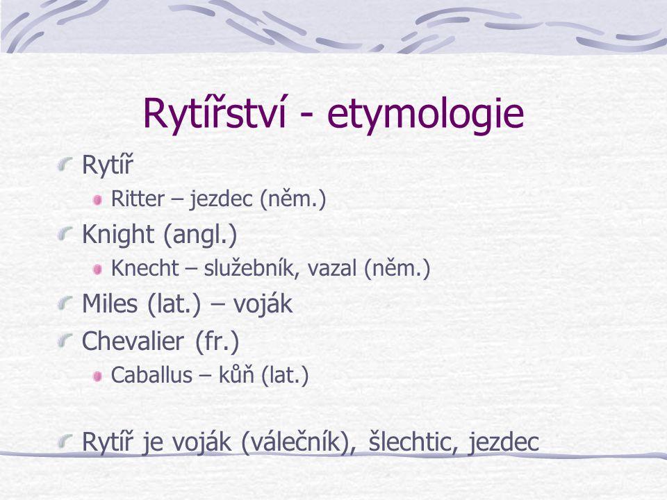 Rytířství - etymologie