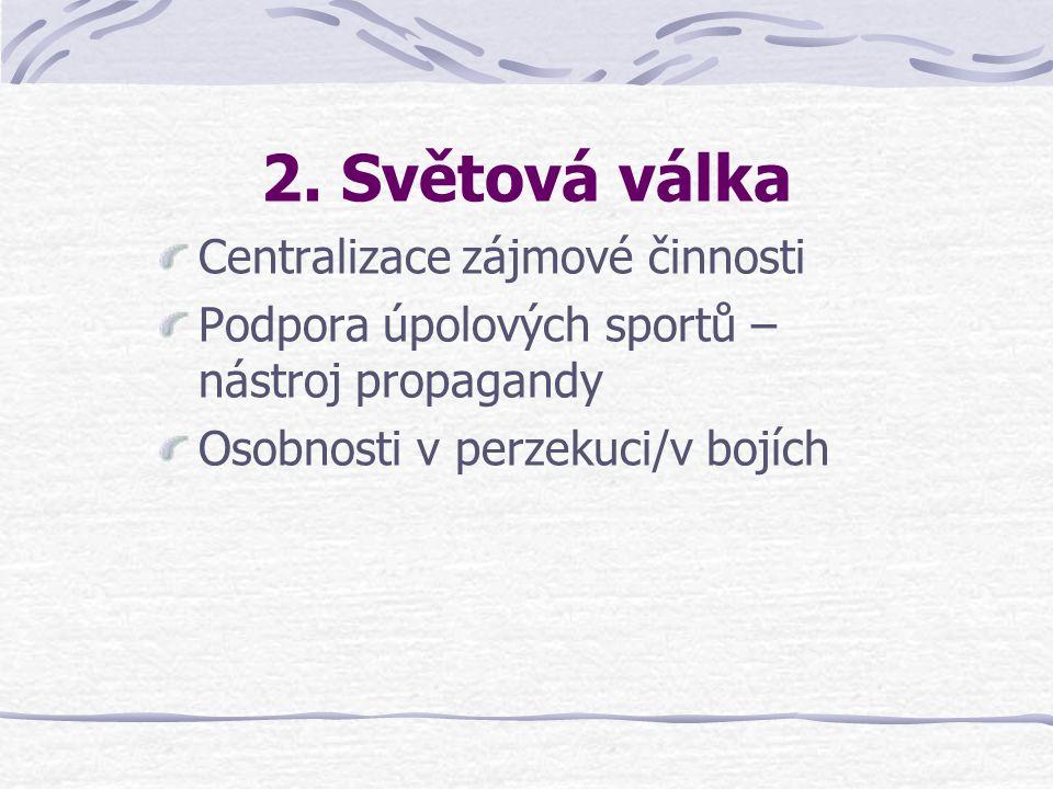 2. Světová válka Centralizace zájmové činnosti