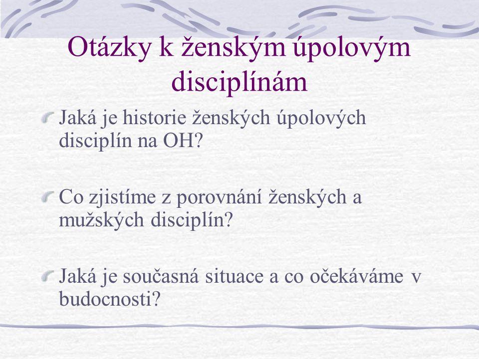 Otázky k ženským úpolovým disciplínám