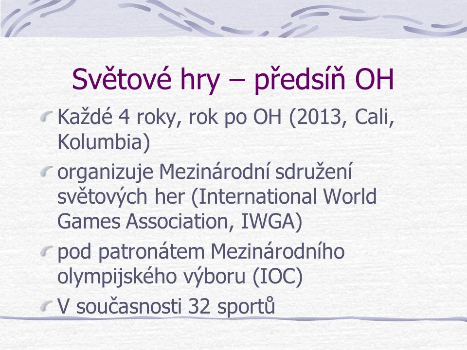Světové hry – předsíň OH