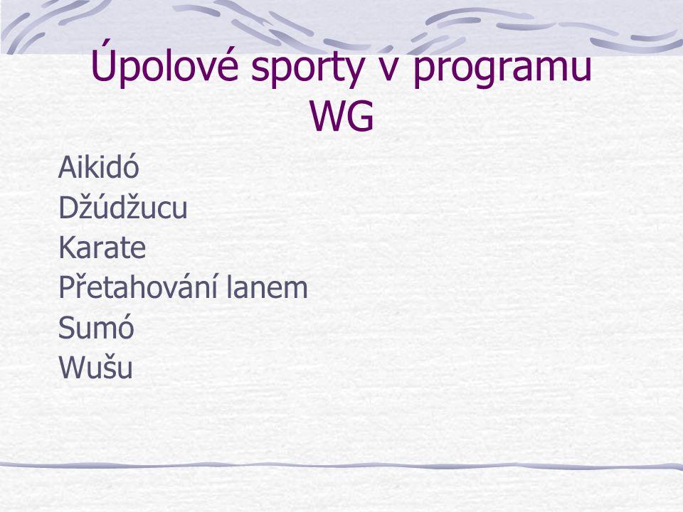 Úpolové sporty v programu WG