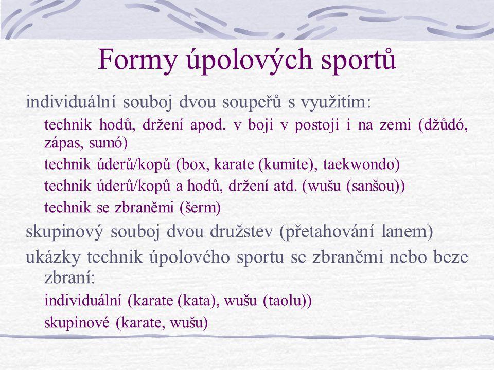 Formy úpolových sportů