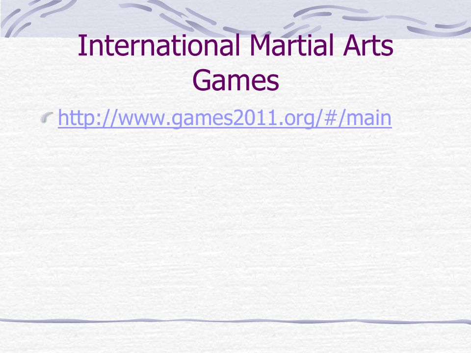 International Martial Arts Games