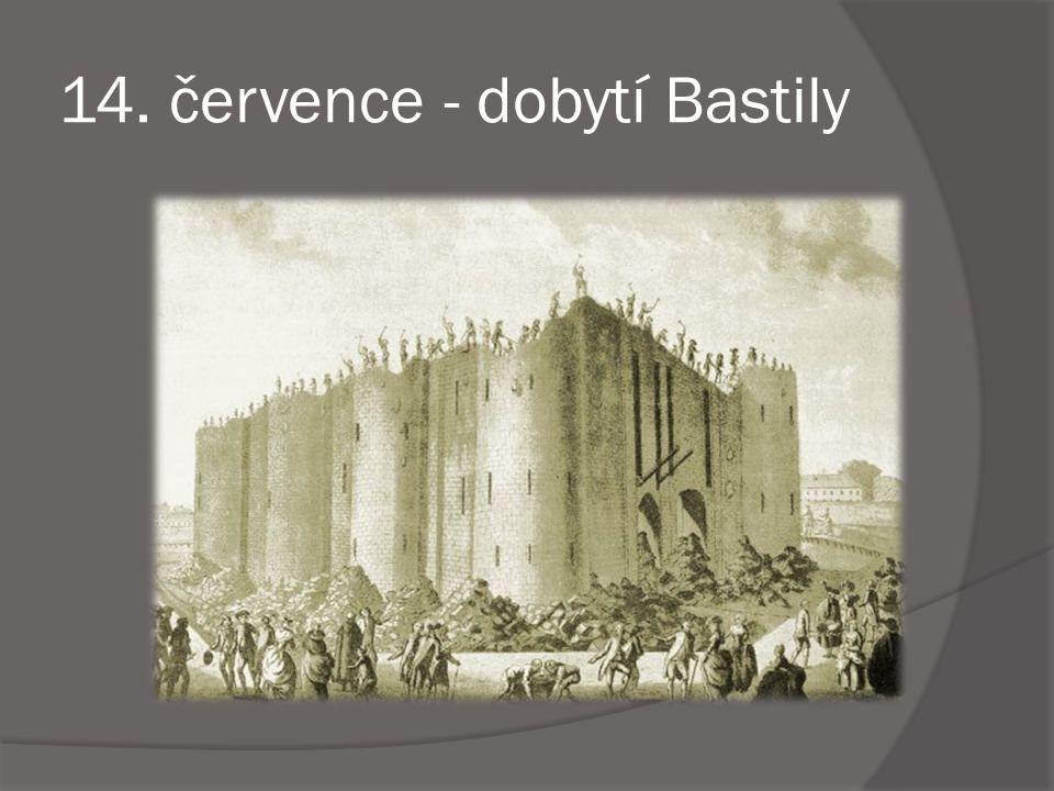 14. července - dobytí Bastily