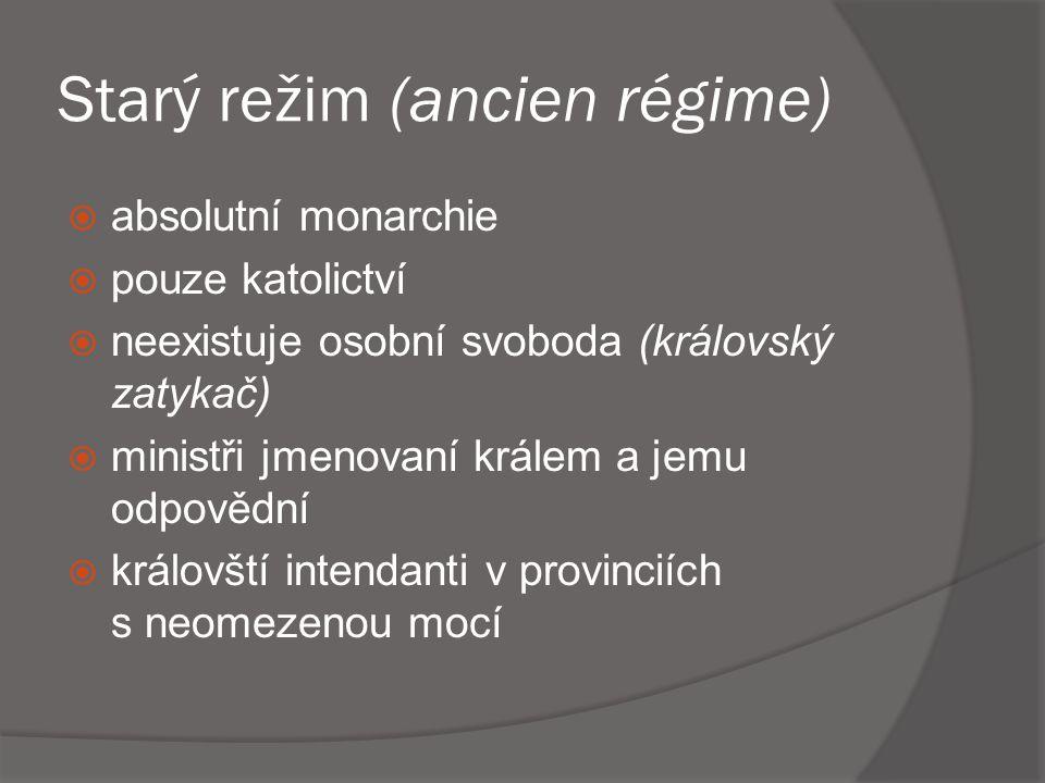 Starý režim (ancien régime)