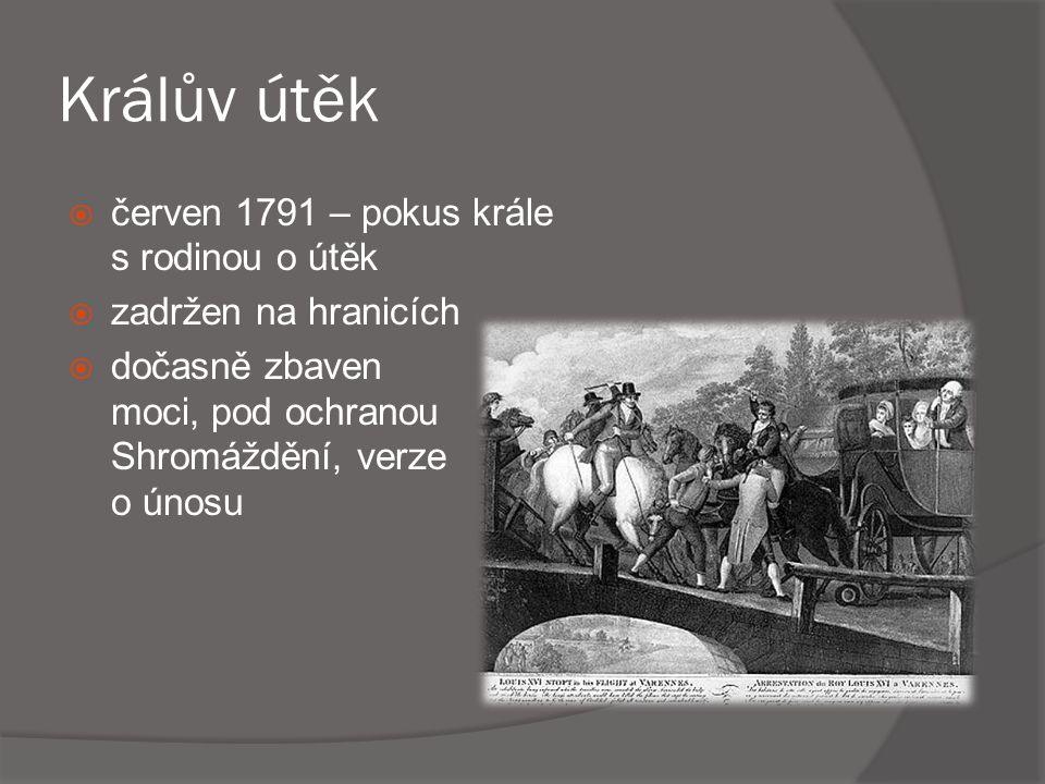 Králův útěk červen 1791 – pokus krále s rodinou o útěk