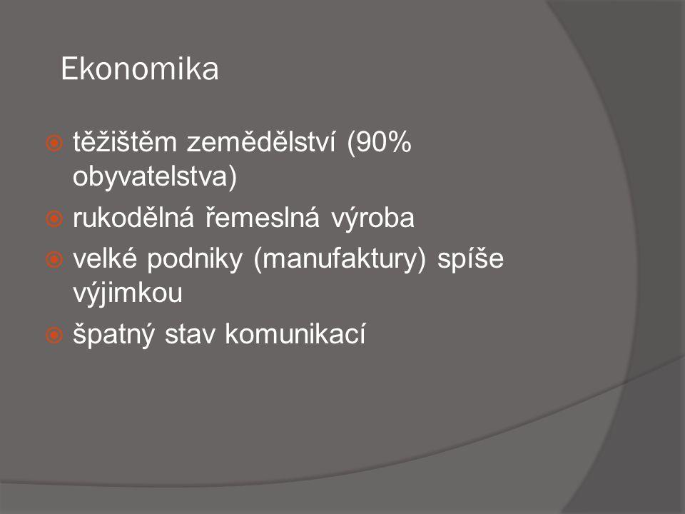 Ekonomika těžištěm zemědělství (90% obyvatelstva)