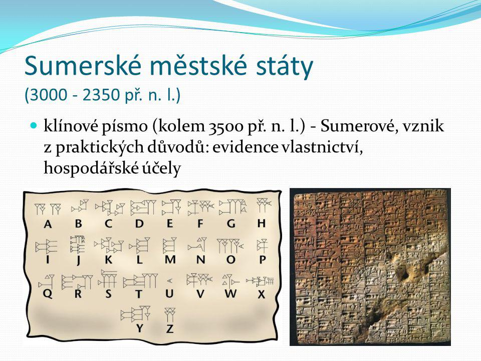 Sumerské městské státy (3000 - 2350 př. n. l.)
