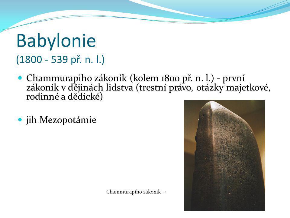 Babylonie (1800 - 539 př. n. l.)