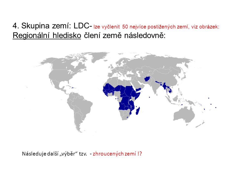 Regionální hledisko člení země následovně: