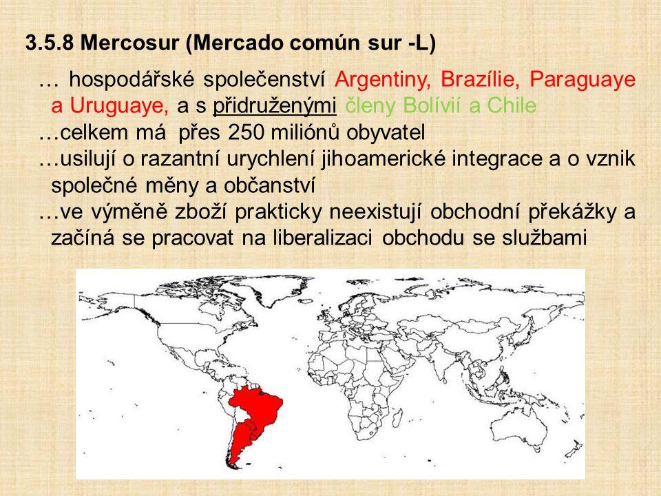 3.5.8 Mercosur (Mercado común sur -L)