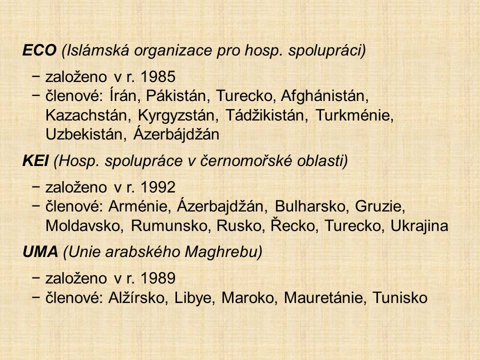 ECO (Islámská organizace pro hosp. spolupráci)