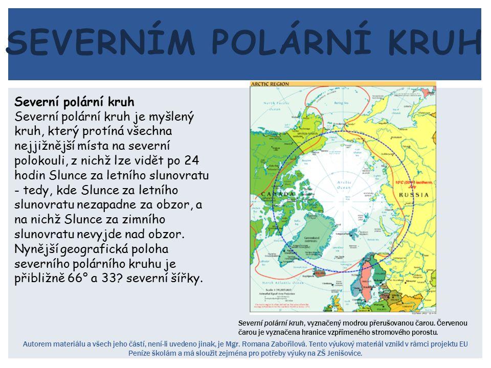 severním polární kruh Severní polární kruh