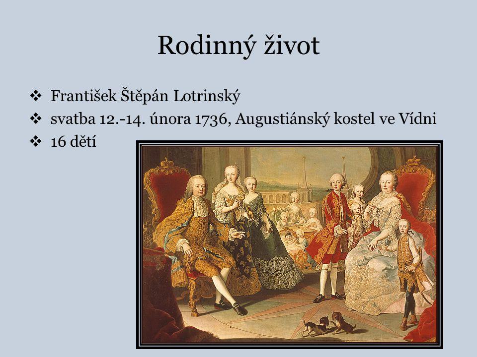 Rodinný život František Štěpán Lotrinský
