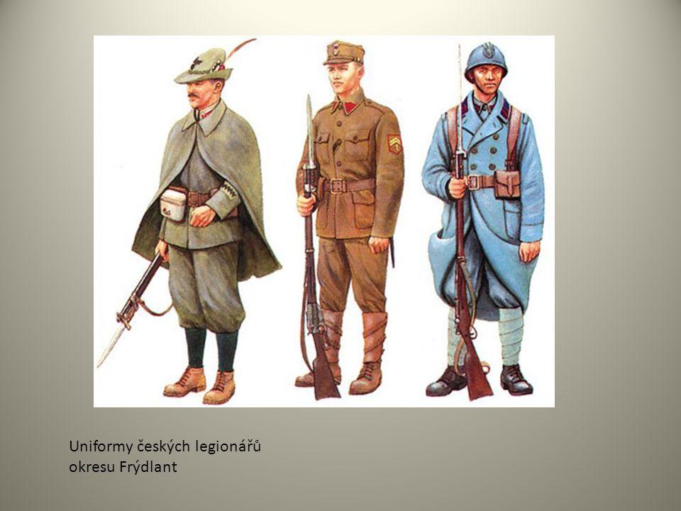 Uniformy českých legionářů okresu Frýdlant
