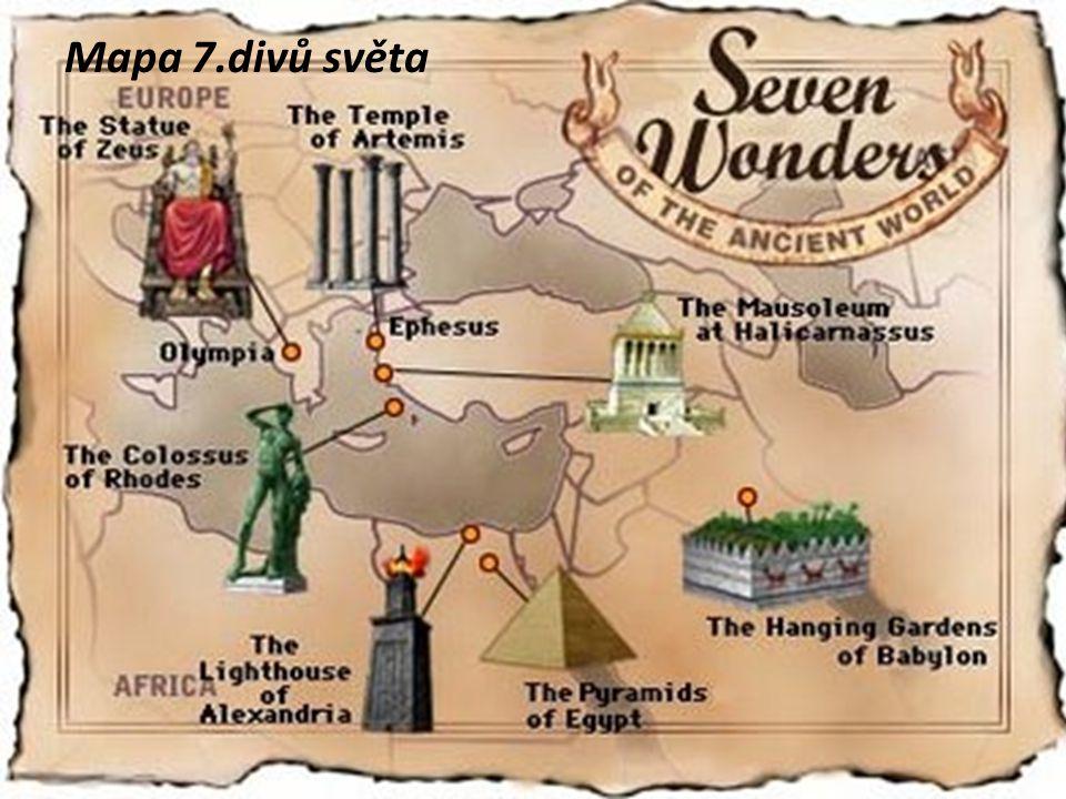 Mapa 7.divů světa