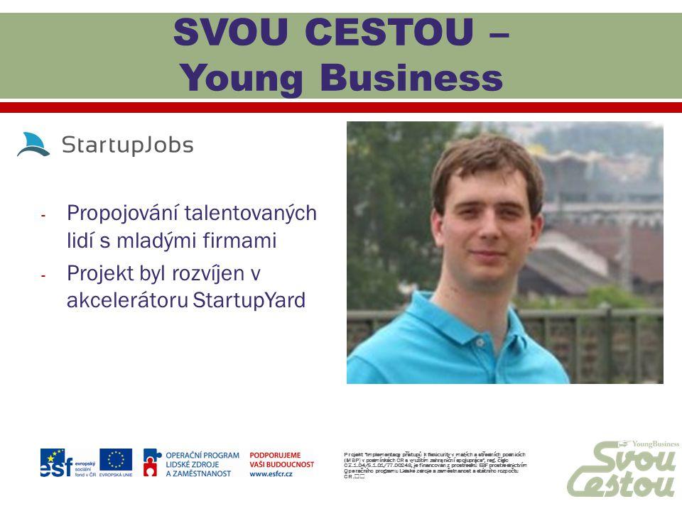 SVOU CESTOU – Young Business