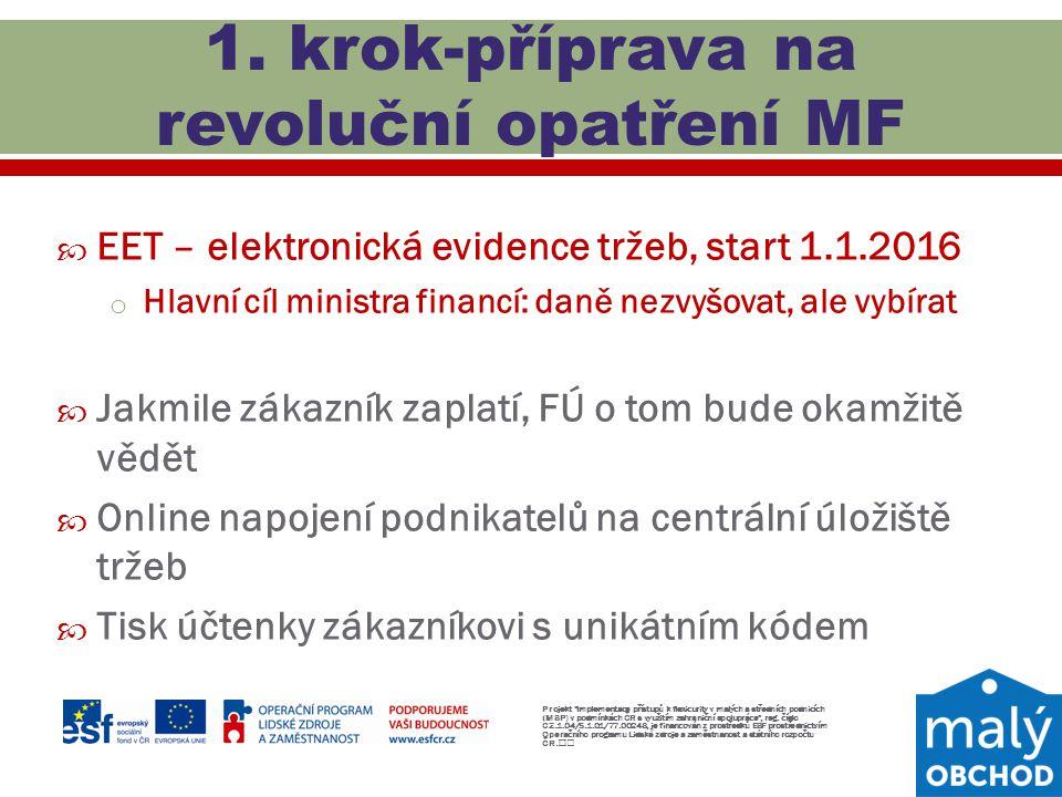 1. krok-příprava na revoluční opatření MF