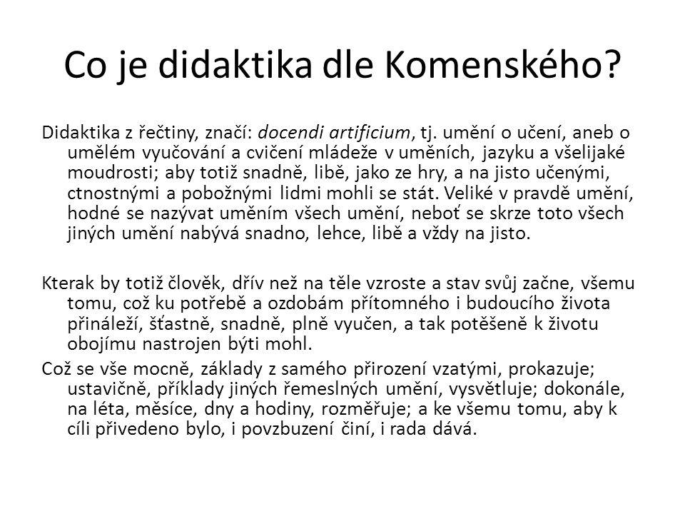Co je didaktika dle Komenského